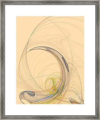 Colorful Abstract Background Framed Print by Odon Czintos