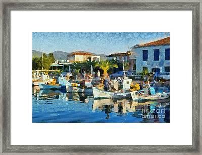 Colorful Port Framed Print by George Atsametakis