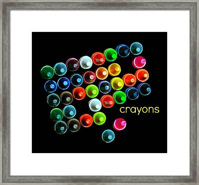 Colorful Wonderful Crayons Framed Print by Diana Angstadt