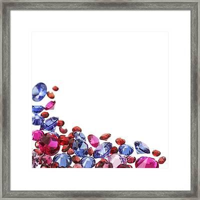 Colourful Gemstones Framed Print