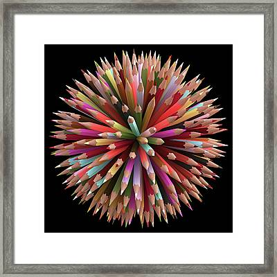 Colouring Pencils Framed Print by Ktsdesign