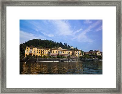 Como Lake Framed Print