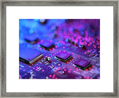 Computer Hardware Framed Print