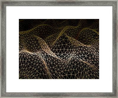 Connecting Lines Framed Print