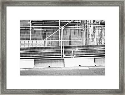 Construction Site Framed Print by Tom Gowanlock