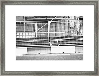 Construction Site Framed Print