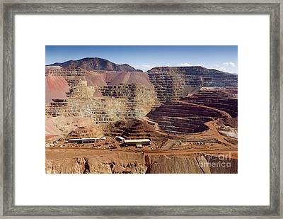 Copper Mine, Arizona, Usa Framed Print by Arno Massee
