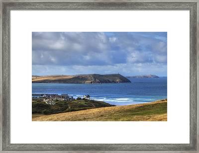 Cornwall - Polzeath Framed Print by Joana Kruse