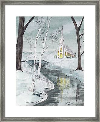 Creekview Church Framed Print by Jack G  Brauer
