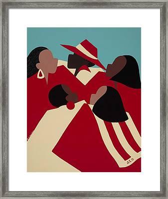Crimson And Cream Framed Print