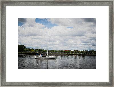 Cruising The Saginaw River Framed Print by Tom Causley