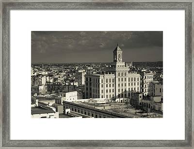 Cuba, Havana, Elevated View Framed Print