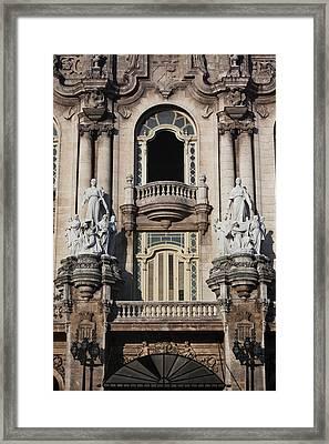 Cuba, Havana, Havana Vieja, Gran Teatro Framed Print by Walter Bibikow
