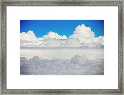 Cumulonimbus Cloud Seen From An Airplane Framed Print by Ashley Cooper