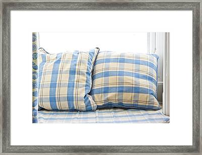 Cushions Framed Print by Tom Gowanlock