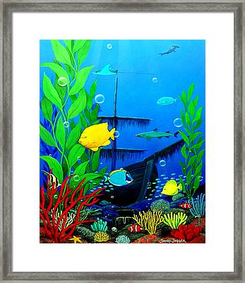 3-d Aquarium Sm Framed Print