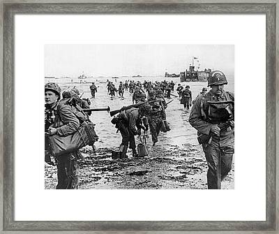 D-day Invasion Framed Print by Underwood Archives