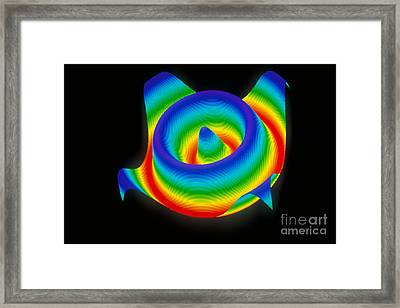 3-d Surface Framed Print by Scott Camazine