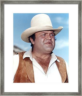 Dan Blocker In Bonanza  Framed Print