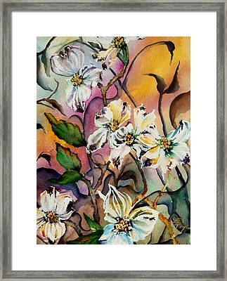 Dance Of The Dogwoods Framed Print by Lil Taylor