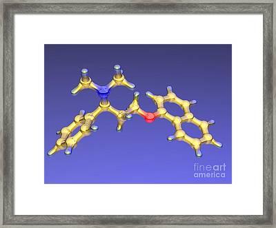 Dapoxetine Premature Ejaculation Drug Framed Print by Dr. Mark J. Winter