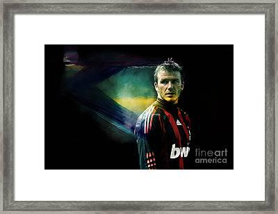 David Beckham Framed Print by Marvin Blaine