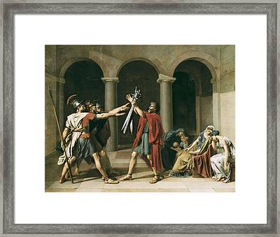 David, Jacques-louis 1748-1825. The Framed Print by Everett