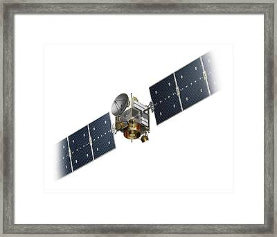 Dawn Spacecraft Framed Print by Carlos Clarivan