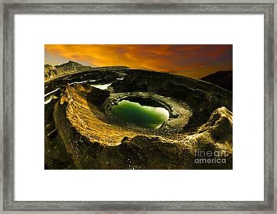 Dead Sea Sink Holes Framed Print