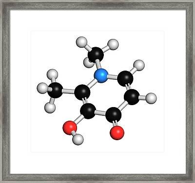 Deferiprone Thalassaemia Major Drug Framed Print by Molekuul