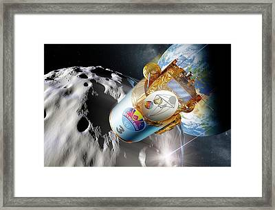 Deflecting A Near-earth Asteroid Framed Print by Detlev Van Ravenswaay