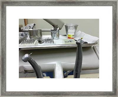 Dentist's Tools Framed Print
