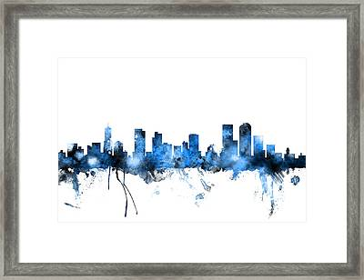 Denver Colorado Skyline Framed Print