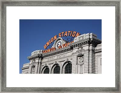 Denver - Union Station Framed Print
