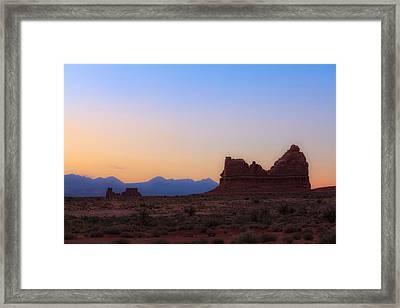 Desert Sunrise Framed Print by Jonathan Gewirtz