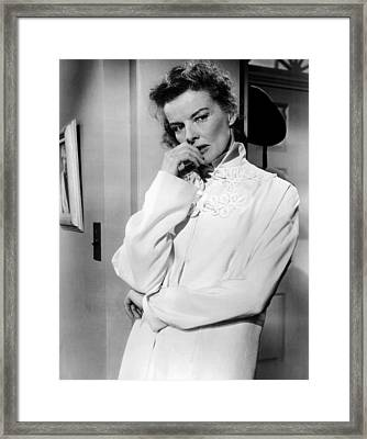 Desk Set, Katharine Hepburn, 1957 Framed Print