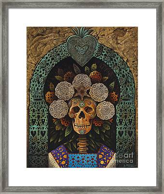 Dia De Muertos Madonna Framed Print