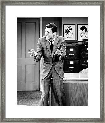 Dick Van Dyke In The Dick Van Dyke Show  Framed Print by Silver Screen