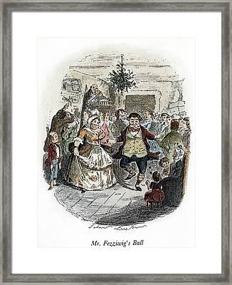 Dickens Christmas Carol, 1843 Framed Print
