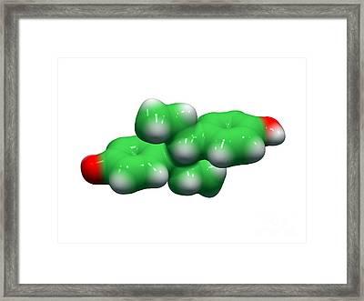 Diethylstilbestrol Drug Molecule Framed Print by Dr. Tim Evans