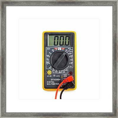 Digital Multimeter Framed Print by Science Photo Library
