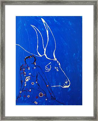 Dinka Livelihood - South Sudan Framed Print
