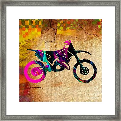 Dirt Bike Art Framed Print