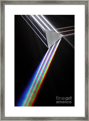 Dispersion Of White Light Framed Print by GIPhotoStock