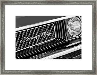 Dodge Challenger Rt Grille Emblem Framed Print