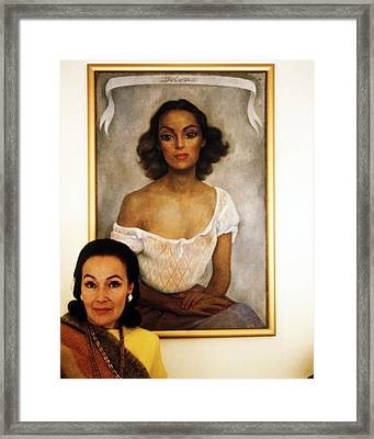 Dolores Del Rio Framed Print by Silver Screen