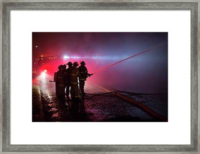 Domestic Fire Framed Print