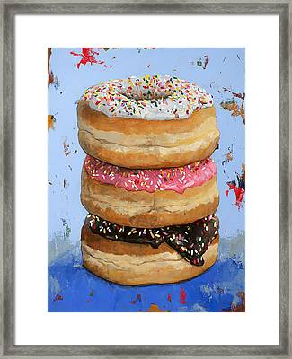3 Donuts #2 Framed Print by David Palmer
