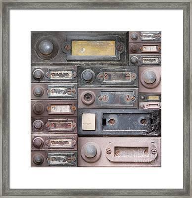 Doorbells Framed Print