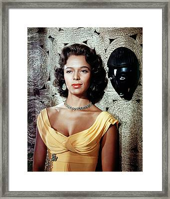 Dorothy Dandridge Framed Print by Silver Screen